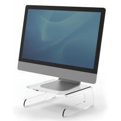 Soporte para monitor fellowes clarity en color transparente.