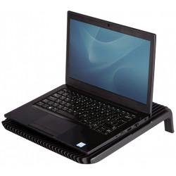 Soporte para portátil con ventilador xl fellowes en color negro.
