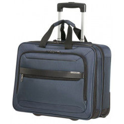 "Maletin samsonite vectura evo para portatil de 17,3"" con ruedas en color azul."