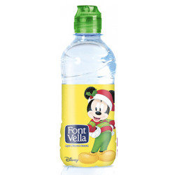 Agua mineral natural font vella kids, botella de 330 ml.