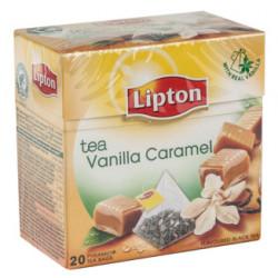 Té vainilla y caramelo lipton, caja de 20 bolsas.