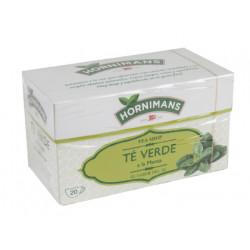 Té verde a la menta hornimans, caja de 20 bolsas.