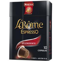 Cafe marcilla l arome espresso splendente fuerza 7, caja de 10 unidades compatible con nesspreso.