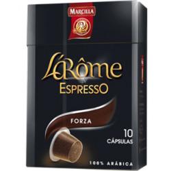 Cafe marcilla l arome espresso forza fuerza 9 caja de 10 unidades compatiblecon nesspreso.