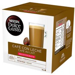 Café monodosis dolce gusto café con leche, caja de 16 unidades.