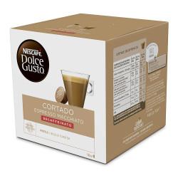 Café monodosis dolce gusto café cortado, caja de 16 unidades.