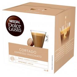 Café monodosis dolce gusto café con leche descafeinado, caja de 16 unidades.