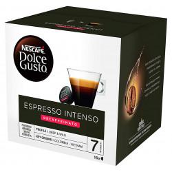 Café monodosis dolce gusto café espresso intenso descafeinado, caja de 16 unidades.
