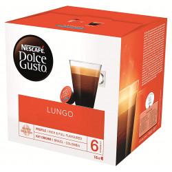 Café monodosis dolce gusto café lungo, caja de 16 unidades.