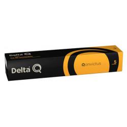Cafe capsulas monodosis delta qalidus intensidad 5, caja de 10 unidades.