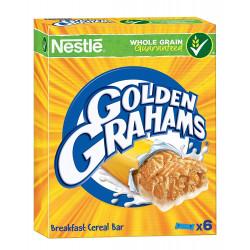 Barrita de cereales nestle golden grahams, paquete de 6 unidades.