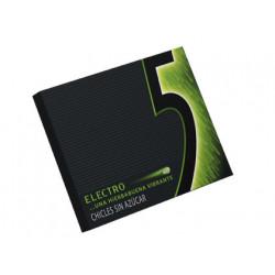 Chicle five sabor electro - hierbabuena, estuche de 12 unidades.
