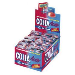 Caramelos golia sin azucar sabor fresa mentolada, caja de 200 unidades.