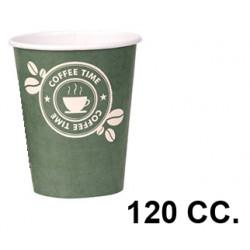 Vaso de cartón de 120 cc., paquete de 50 unidades.