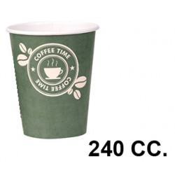 Vaso de cartón de 240 cc., paquete de 50 unidades.