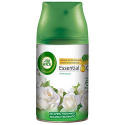 Recambio Ambientador air wick freshmatic flores blancas recambio de 250 ml.