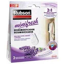 Deshumidificador rubson mini fresh lavanda, pack 2 bolsitas de 50 grs.