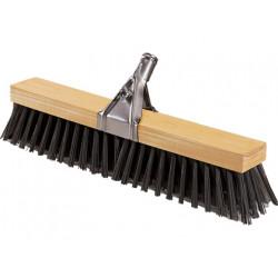 Cepillo madera barrendero con cerdas de polipropileno de 520x90 mm. contiene pinza y palo.