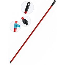Palo de escoba o fregona de metal universal con adaptador de 140 cm.