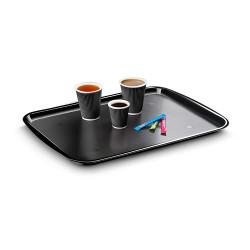 Bandeja cep diseño clasico policarbonato color negro.