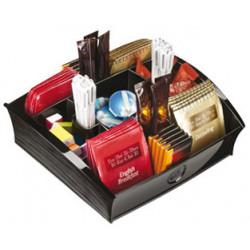 Bandeja organizadora cep en poliestireno con 9 compartimentos especial para snack de 205x216x68 mm. color negro.