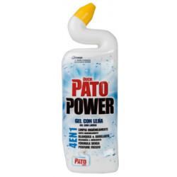 Limpiador de inodoro pato formula 4 en 1 gel con lejia, botella de 750 ml.