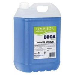 Limpiador multiusos buga clean, garrafa de 5 litros.