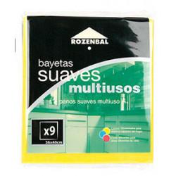 Bayeta multiusos rozenbal de 36x40 cm., pack de 9 unidades.