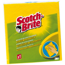Bayeta multiusos 3m scotch brite de 380x400 mm. color amarilla.
