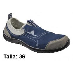 Calzado de seguridad deltaplus light walkers miami s1p, talla nº 36, color gris/azul marino.
