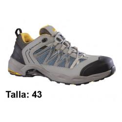 Calzado de seguridad deltaplus trek pertuis3 s1p, talla nº 43, color gris/naranja.