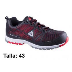 Calzado de seguridad deltaplus delta sport s1p, talla nº 43, color negro/rojo.
