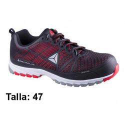 Calzado de seguridad deltaplus delta sport s1p, talla nº 47, color negro/rojo.