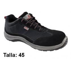 Calzado de seguridad deltaplus asti s1p, talla nº 45, color negro.