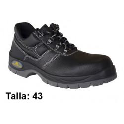 Calzado de seguridad deltaplus classic industry s3, talla nº 43, color negro.