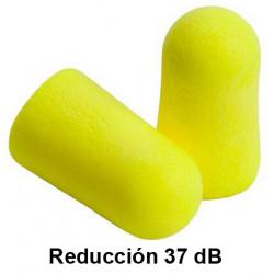 Tapones para los oidos deltaplus en espuma de poliuretano reducción de 32dB, en blster de 10 pares.