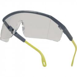 Gafas de protección deltaplus en policarbonato monobloque cristal incoloro color gris-amarilla.