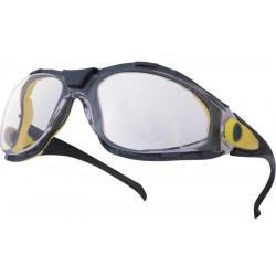 Gafas de protección deltaplus ajustables en policarbonato cristal incoloro.