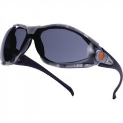 Gafas de protección deltaplus ajustables en policarbonato cristal ahumado.