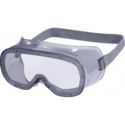 Gafas de protección deltaplus panorámicas montura flexible de pvc ventilacion directa talla ajustable color gris.