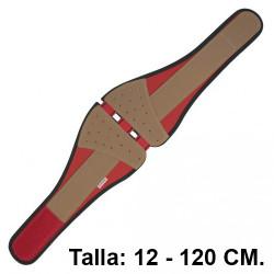 Cinturón antilumbago con cierre de velcro faru c117-100, talla 12 - 120 cm.