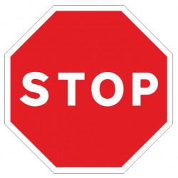 Pictograma de señalización en acero galvanizado syssa stop en formato 500 mm.