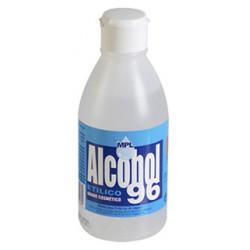 Alcohol etilico 96º, bote de 250 ml.