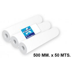 Rollo papel para camillas amoos de 500 mm x 50 m. 2 capas y 67 servicios, pack de 3 unidades.