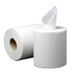 Papel secamanos q-connect 100% pura celulosa, 2 capas, 199 mm. x 135 mts. color blanco.