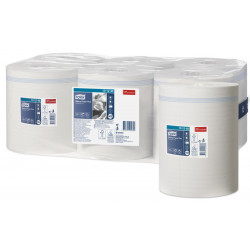 Papel secamanos extra tork advanced, 2 capas, 215 mm. x 160 mts. color blanco.
