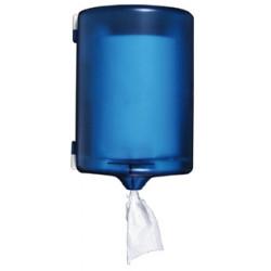 Dispensador de papel secamanos q-connect en plástico, color azul / blanco.