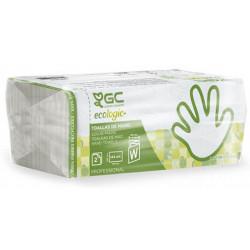 Toallas de papel goma-camps xtrasec 100% celulosa reciclada, 2 capas, plegado w, 225x310 mm. color blanco, paquete de 144 uds.