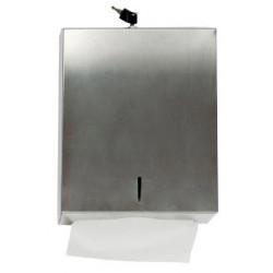 Dispensador para toallas de mano q-connect en acero inoxidable.
