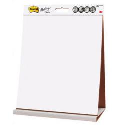 Bloc de papel liso para reuniones de mesa 3m post-it super sticky en formato 50,4,x58,4 cm. pack de 1 bloc de 20 hojas.